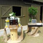 Rustic outdoor drink station